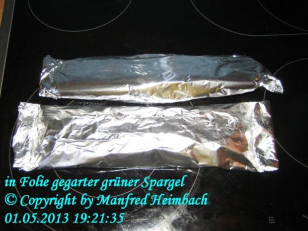Spargel – grüner Spargel in der Folie aus dem Backofen - Rezept - Bild Nr. 2