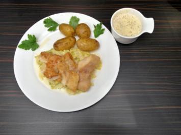 Hamborger Pannfish ob Rosmarienkartüffeln, Gemüse von Mark in einer fienen Senfsoss - Rezept