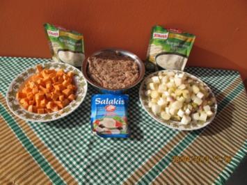 Spargelcremesuppe mit Gehacktesklößchen - Rezept