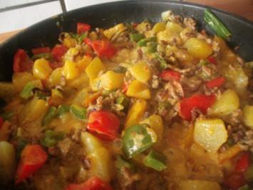 Hackfleisch - Paprika - Kartoffelpfanne - Rezept