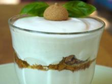 Zitrusfrüchte, Basilikumcreme, Amarettini - Rezept