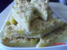 Puddingkuchen mit Dinkelboden und Streuseln - Rezept
