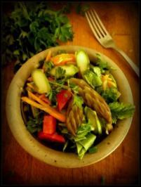 Salat mit grünem Spargel - Rezept