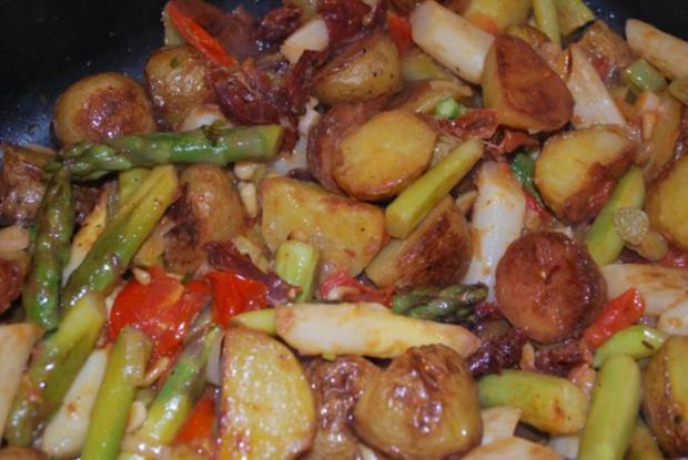 Warmer Röstkartoffel-Spargel-Salat - Rezept - Bild Nr. 6
