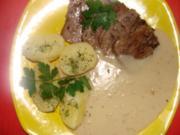 Fleisch : Kalbszunge gekocht und gebraten mit Meerrettichsoße - Rezept