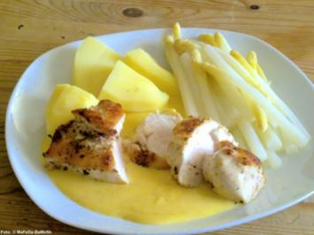 Hähnchenbrustfilet mit Orangen-Hollandaise - Rezept