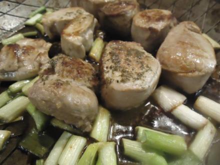 Filet vom Schwein mit Champignon-Bratkartoffeln - Rezept