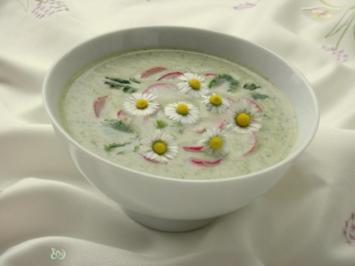 ~✿~  Radieschensuppe mit Gänseblümchen  ~✿~ - Rezept