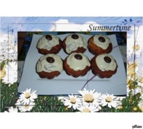 Kuchen :  Muffins mit Moccabohnen, Marzipan und Amaretto - Rezept