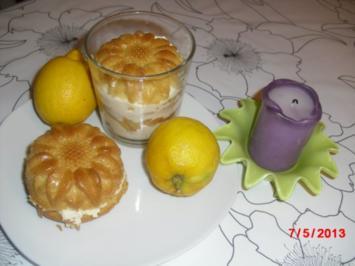 Mascarpone-Creme im Blütenmuffin, - Rezept