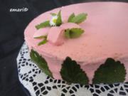 Schnee Torte mit Topfen Obers Frucht Creme - Rezept