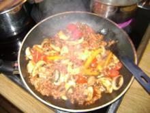 Champigon - Paprika - Soja Gehacktes - vegetarisch - Rezept