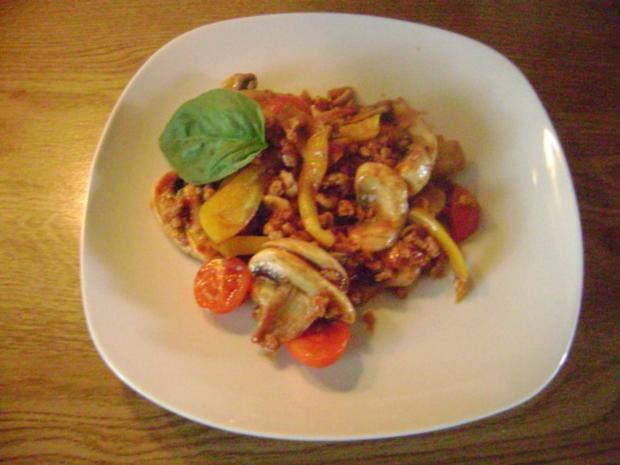 Champigon - Paprika - Soja Gehacktes - vegetarisch - Rezept - Bild Nr. 4
