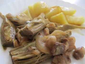 Alcachofas a la suegra - Artischocken nach Schwiegermutterart - Rezept