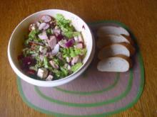 Pikanter Wurstsalat mit Radieschen - Rezept