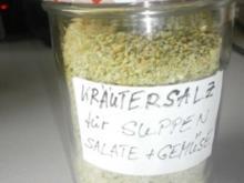 Kräutersalz  für Suppen, Gemüse und Salate - Rezept