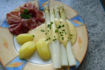 ❤ Spargel  mit Sauce - Hollandaise...   & ...Tiroler Schinken... ❤ - Rezept