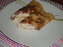 Kirschpfannkuchen mit Cappucchino-Sahne - Rezept