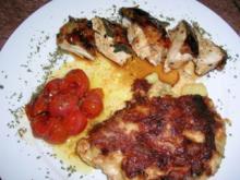 geschmorte Lammhaxen, mit Auberginen und Tomaten - Rezept