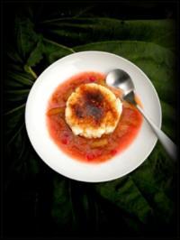 Kokosmilchreis mit  Gewürz-Rhabarber - Rezept