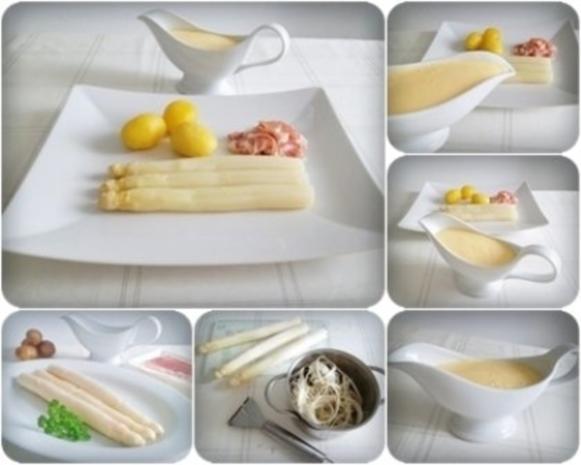 Spargel mit Jausenspeck, Pellkartoffeln und selbstgemachter Sauce Hollandaise - Rezept - Bild Nr. 17