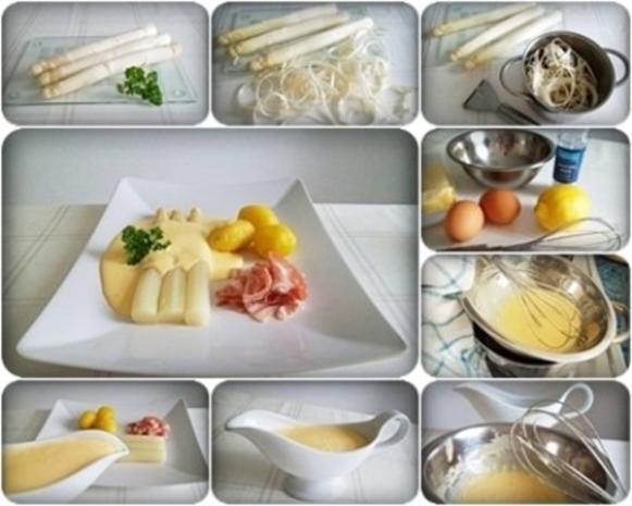 Spargel mit Jausenspeck, Pellkartoffeln und selbstgemachter Sauce Hollandaise - Rezept - Bild Nr. 16