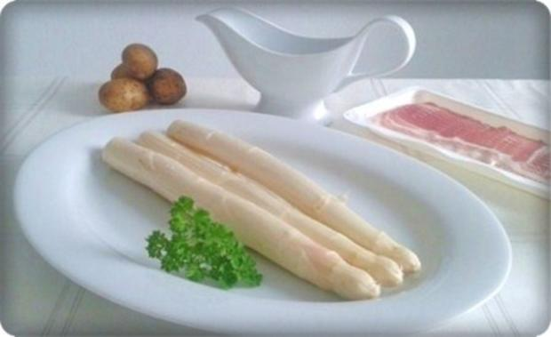 Spargel mit Jausenspeck, Pellkartoffeln und selbstgemachter Sauce Hollandaise - Rezept - Bild Nr. 3