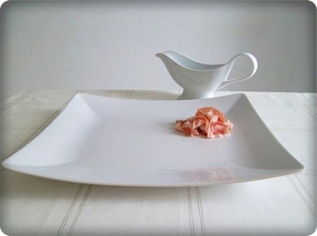 Spargel mit Jausenspeck, Pellkartoffeln und selbstgemachter Sauce Hollandaise - Rezept - Bild Nr. 7