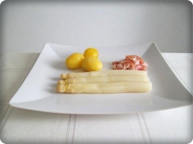 Spargel mit Jausenspeck, Pellkartoffeln und selbstgemachter Sauce Hollandaise - Rezept - Bild Nr. 8