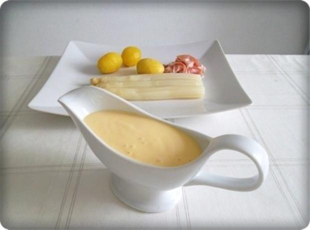 Spargel mit Jausenspeck, Pellkartoffeln und selbstgemachter Sauce Hollandaise - Rezept - Bild Nr. 12