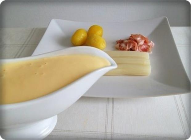 Spargel mit Jausenspeck, Pellkartoffeln und selbstgemachter Sauce Hollandaise - Rezept - Bild Nr. 14