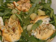 Warmer Bratkartoffelsalat mit Spargel,Rucola und Ziegenkäse - Rezept
