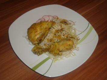 geschmorte Hähnchenschenkel in Buttermilch - Rezept