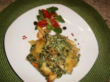 Nudel-Spinat-Hähnchen-Auflauf - Rezept