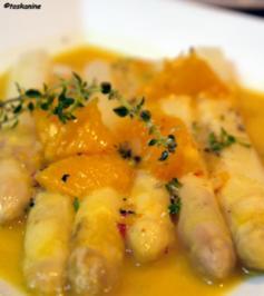 Ofenspargel mit Orangen-Senf-Sauce - Rezept