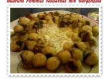 Kartoffeln: Pommes Noisettes mit Gorgonzola und Speck - Rezept
