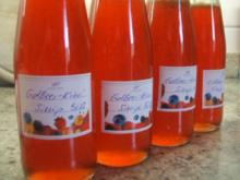 Vorrat: Erdbeer-Kiwi-Sirup + Erdbeer-Kiwi-Marmelade - Rezept