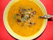 Suppen : Ahab's feine Möhrensuppe mit Ingwersirup und Möhrensaft veredelt - Rezept