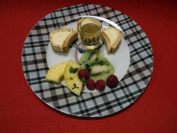 Mangomus im Baumkuchenmantel - Rezept