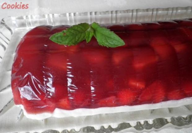 Fruchtige Rhabarber - Erdbeer - Terrine - Rezept - Bild Nr. 4
