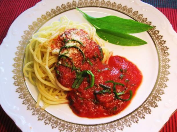Bärlauch-Soße mit Spaghetti ... - Rezept - Bild Nr. 8