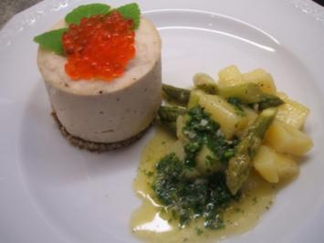 Fisch: Forellenmousse mit lauwarmem Spargel-Kartoffelsalat - Rezept