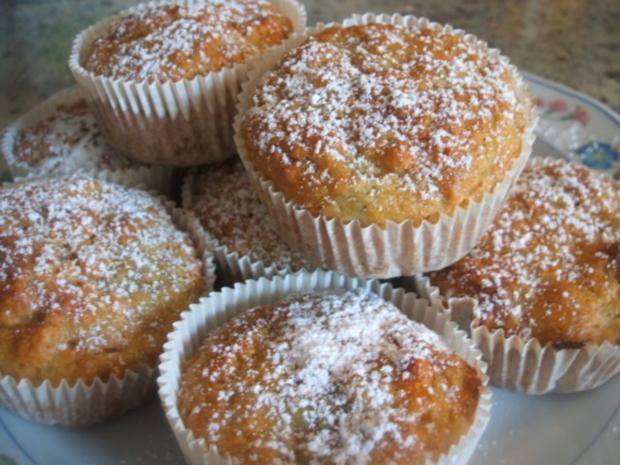 Backen: Rhabarber-Vanille-Muffins - Rezept