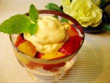 Frische Früchte mit Vanille-Creme - Rezept