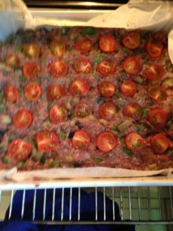 Aubergine-Hackfleisch Kuchen - Rezept - Bild Nr. 2