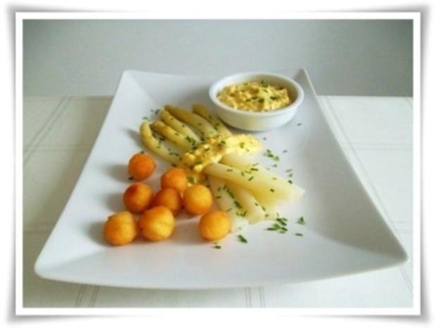 Spargel mit selbstgemachter Bozner Sauce und Kartoffelbällchen dazu. - Rezept - Bild Nr. 21