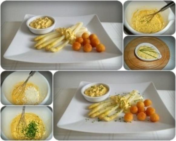 Spargel mit selbstgemachter Bozner Sauce und Kartoffelbällchen dazu. - Rezept - Bild Nr. 3