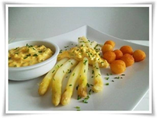 Spargel mit selbstgemachter Bozner Sauce und Kartoffelbällchen dazu. - Rezept - Bild Nr. 22