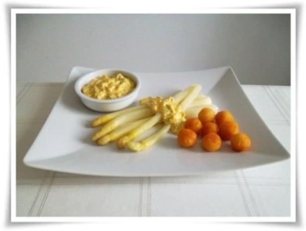 Spargel mit selbstgemachter Bozner Sauce und Kartoffelbällchen dazu. - Rezept - Bild Nr. 19