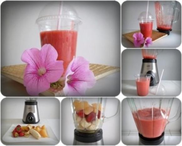 Birnen-Erdbeer-Smoothie zur Gewichtsreduktion